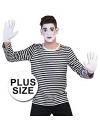 Grote maten mime shirt voor heren