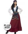 Grote maten piraten kostuum voor dames
