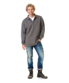 Grote maten polo sweater open boord