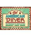 Grote muurplaat the american diner 30x40cm