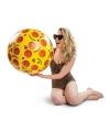 Grote pizza strandbal 51 cm