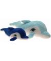 Grote pluche dolfijn 160 cm donker blauw