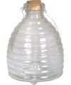 Grote wespenvanger van glas 19 cm