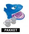 Haai drankspel met 6 shotglaasjes