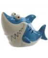 Haaien spaarpot blauw 24 cm