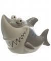 Haaien spaarpot grijs 24 cm