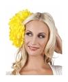 Haarbloem gele dahlia met clip