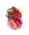Haarbloemen fuchsia roze met klem