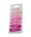 Haarspeldjes 6 cm roze tinten