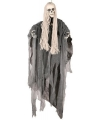 Halloween bewegend decoratie skelet met lang haar