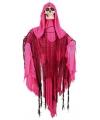 Halloween bewegend decoratie skelet roze