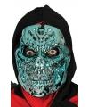 Halloween blauw metallic skelet masker