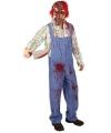 Halloween bloederig zombie kostuum