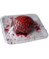 Halloween bloederige hersenen op schaal