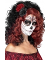 Halloween day of the dead pruik met roos