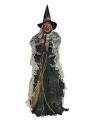 Halloween decoratie heks met licht en geluid 80 cm