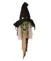 Halloween deurversiering lachende heks