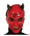 Halloween duivel masker met hoorns voor volwassenen