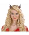 Halloween duivelshoorns met elastiek