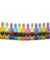 Halloween flessen set gekleurd 12 stuks