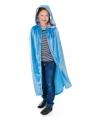 Halloween fluwelen blauwe cape voor kinderen