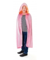 Halloween fluwelen roze cape voor kinderen