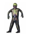 Halloween glow in the dark kinderen kostuum gekleurde skelet