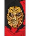 Halloween goud metallic skelet masker