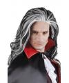 Halloween grijze vampier pruik voor volwassenen