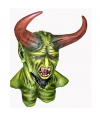 Halloween groen monster masker van latex