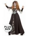 Halloween grote maten dames kostuum zombie