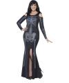 Halloween grote maten skelet jurk voor dames