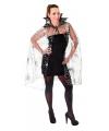Halloween heksen cape met spinnenweb