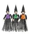 Halloween heksen hangdecoratie paars 70 cm