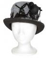 Halloween heren hoed met spin 13 x 29 x h25 cm