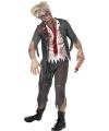 Halloween high school zombie kostuum voor heren