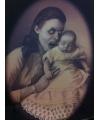 Halloween horror effect schilderij vampier moeder met baby
