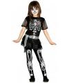 Halloween juwelen skelet jurkje voor meisjes