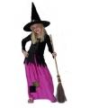 Halloween lange heksenjurk voor meisjes