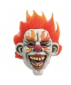 Halloween latex horror masker enge clown flames