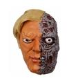 Halloween latex horror masker half verbrand gezicht