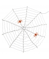 Halloween led spinnenweb met spinnen