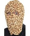 Halloween masker hoofd met maden