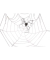 Halloween mega spinnenweb decoratie 2 meter