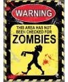 Halloween metalen muurplaat zombies 15 x 20 cm