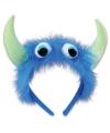 Halloween monster diadeem blauw groen