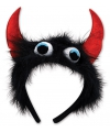 Halloween monster diadeem zwart rood