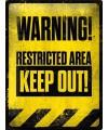Halloween muurplaat warning 30 x 40 cm