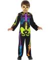 Halloween neon skelet kostuum kinderen