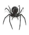 Halloween plastic zwarte weduwe spin